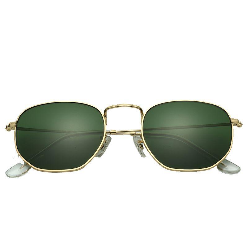 616446471a Vintage Glass Lens Reflective Sunglasses Women Classic Brand Designer Metal  Frame Eyewear Fashion Mirror Hexagon Oculos De Sol Sunglasses Cheap  Sunglasses ...