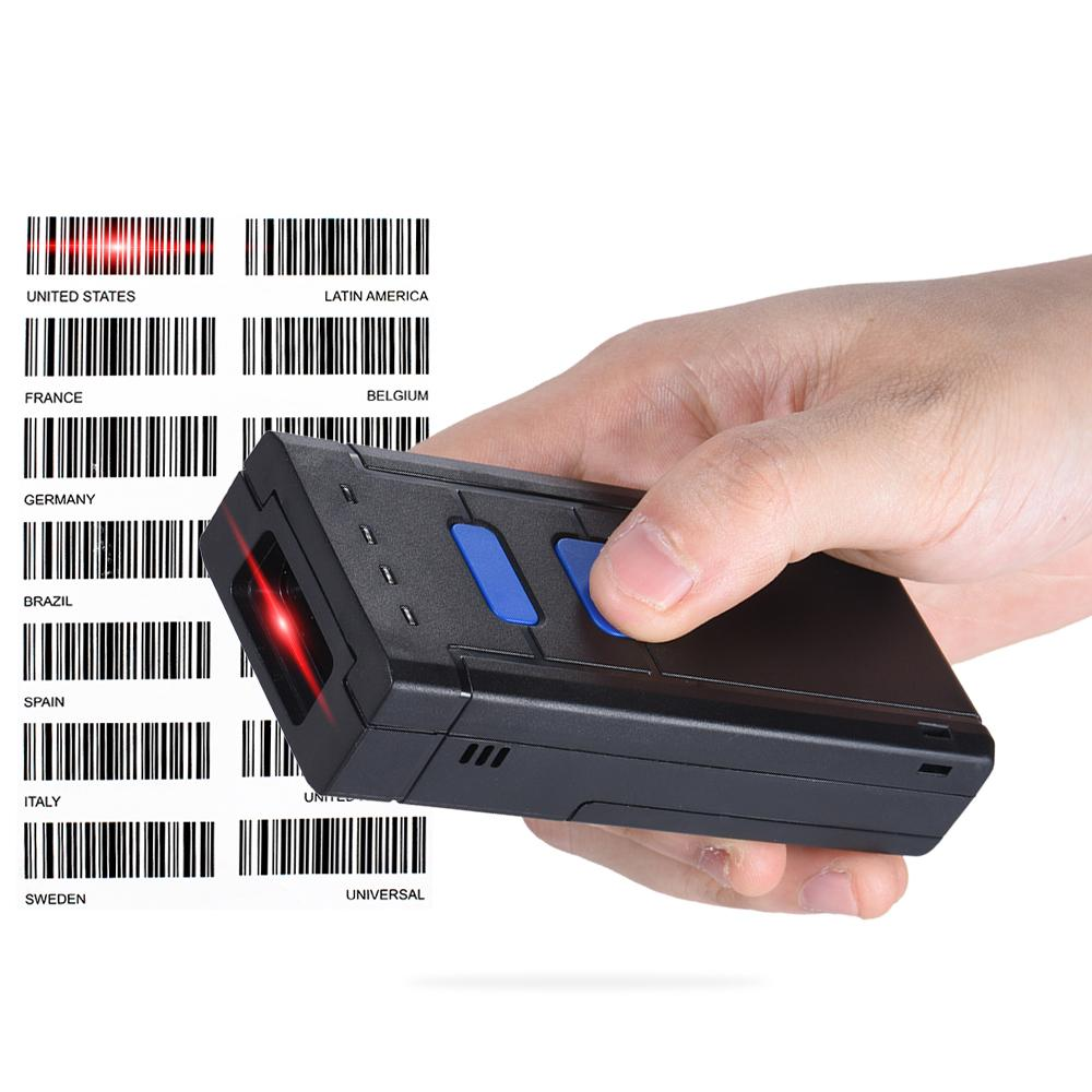 Mini Portable Barcode Scanner 1d Laser Barcode Reader Support Tabletsmartphonepc Device