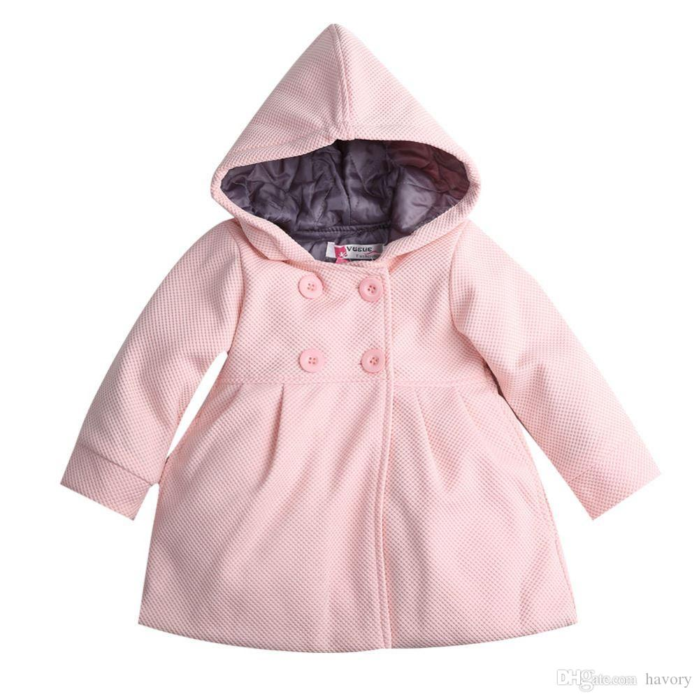 0caee2b1949f 2017 Baby Kids Coat Girls Winter Pink Coat Kids Jackets Casual Baby  Clothing Children Outwear   Coats Baby Coats For Girls Girls Spring Coat  Girls Outerwear ...
