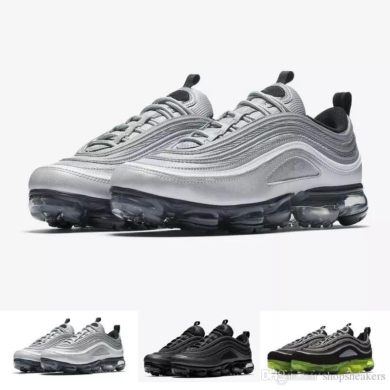 184d260ef843 2019 With Box Vapor 97 Hybrid Black Reflect Silver Bullet Japan OG Running  Shoes For Men Women Gold Black Vapores Sports Shoes From Shopsneakers