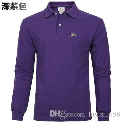 254303e22e15 2019 2019 New Hot Sale Polo Shirt Men Big Small Horse Solid Long Sleeve  Summer Casual Polo Mens Slim Polos Casual Shirt From Luyisi1658