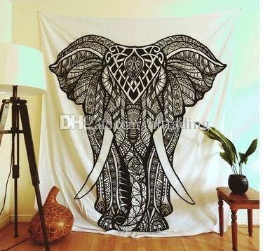 150 * 130 cm tapisserien 2018 sommer böhmischen mandala badetuch decke folk-custom yoga matte elefantendruck schal badetuch 40 farben c4281