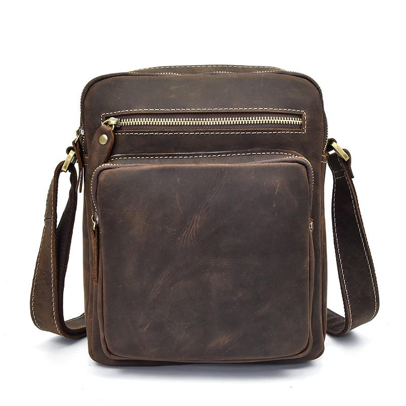 07f9693802 LAPOE Genuine Leather Men Bag Men Messenger Bags Fashion Ipad Crossbody Bags  Small Casual Men S Leather Shoulder Bag Man Fashion Handbags Large Handbags  ...