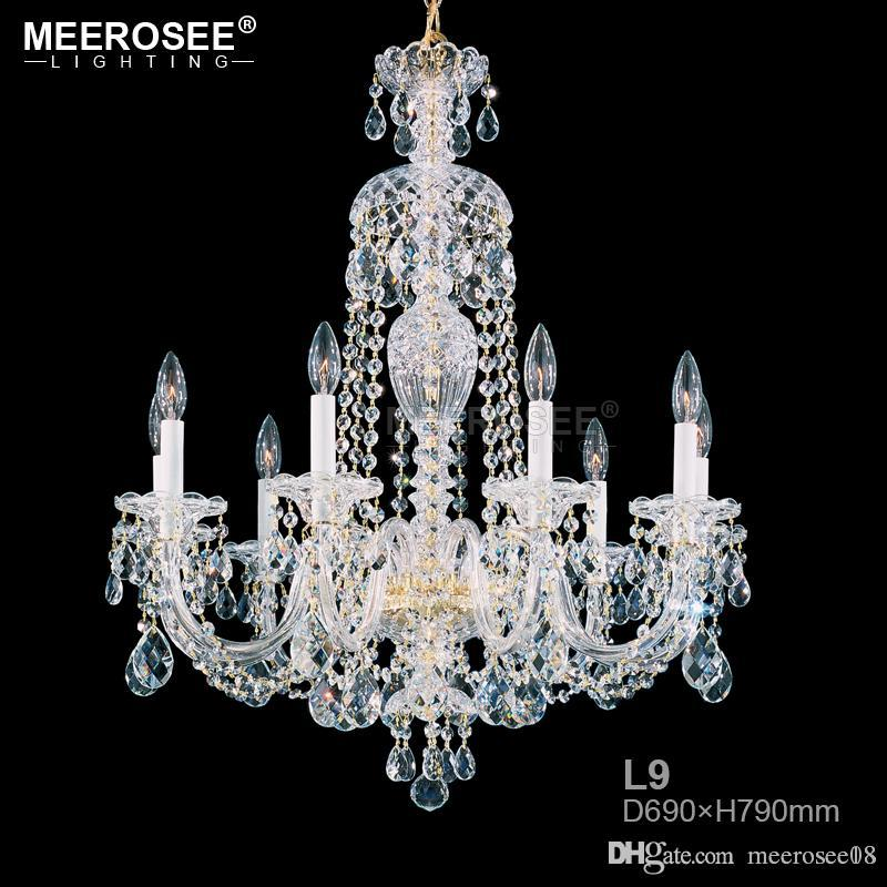 Hot sell Candle Chandelier Modern Crystal Chandelier Bedroom Lamp Elegant Lustres Hanglamp Minimalist Restaurant Light
