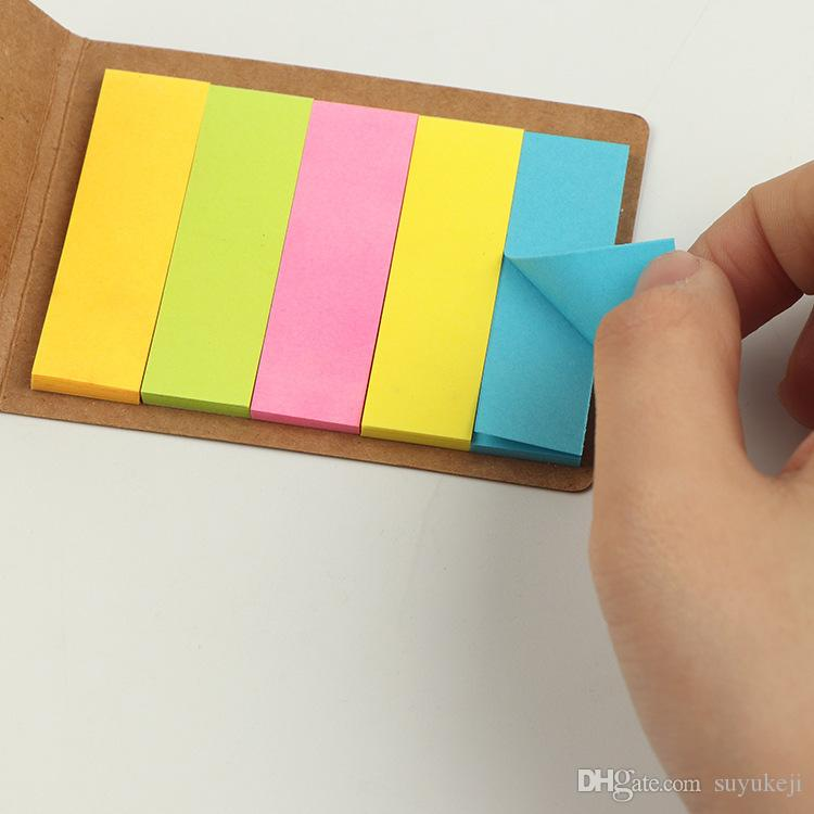 Colorful Paper Note Sticky Notes Removable Self Stick Note Five