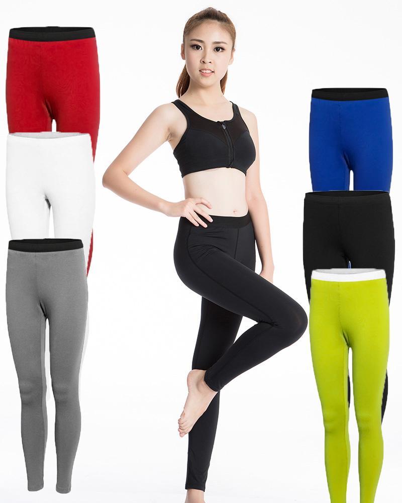Compre Señoras Pantalones De Yoga Pantalones De Entrenamiento De Gimnasia  Elasticidad Transpirable Secado Rápido Medias De Equitación Al Aire Libre  ... ed4ab0b22db3c