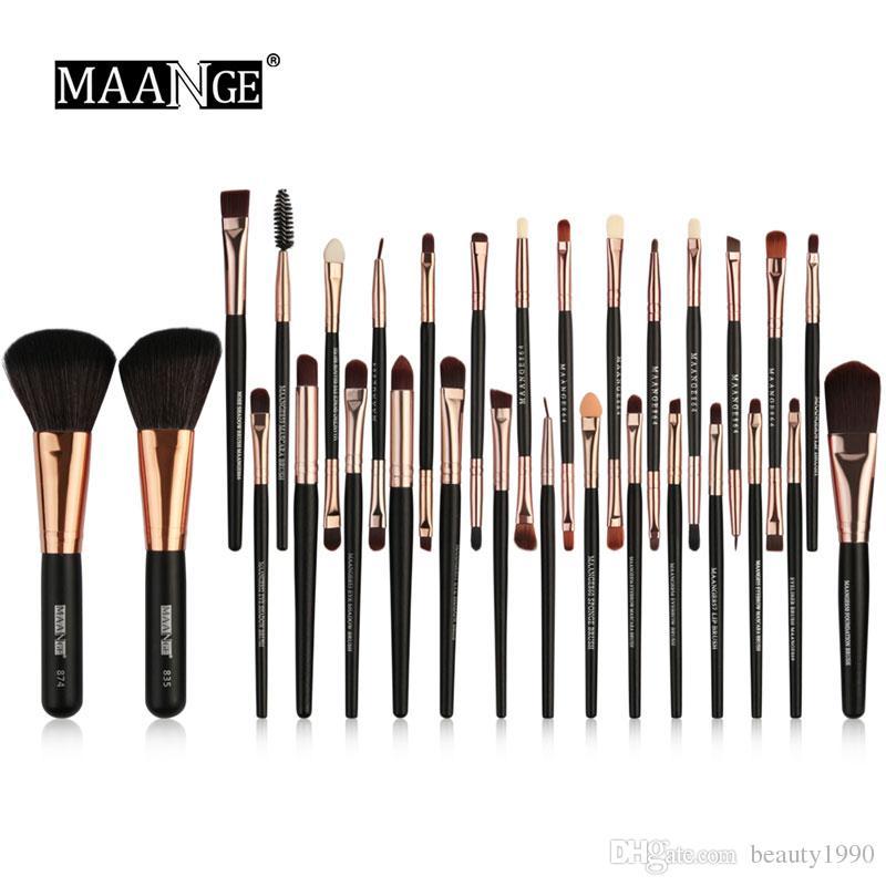 Compre MAANGE Pincéis De Maquiagem Set Foundation Pó Sombra De Olho Escova  De Sobrancelha Cílios Lip Blending Kabuki Cosméticos Make Up Brush Tools De  ... a8cbf67afc