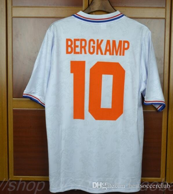 0083cc830 2019 94 96 Retro Soccer Jersey Netherlands Bergkamp 1994 1996 2000 Home  Away Football Shirts Voetbal Holland Seedorf Orange Uniforms From  Bestsoccerclub