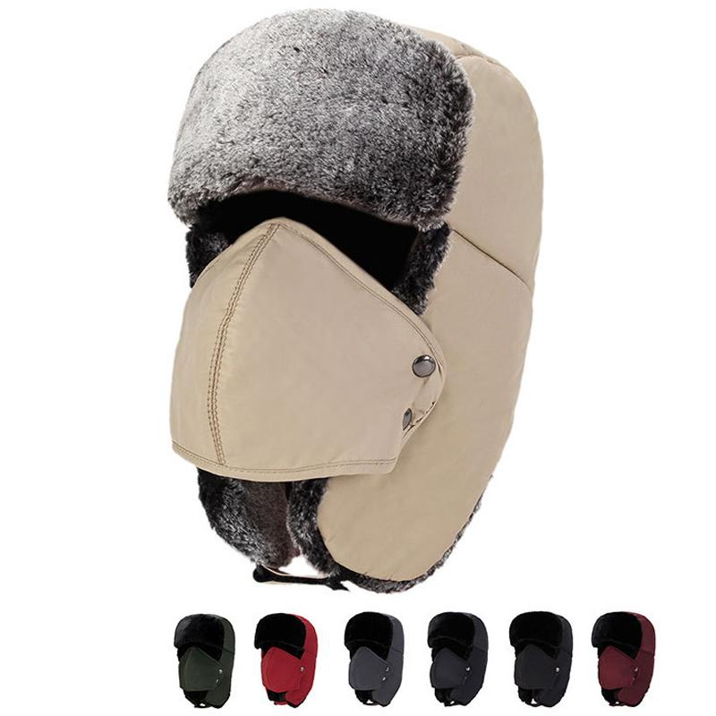 fa9eb532d8341 Unisex Skiing Sport Windproof Cap Winter Trapper Hats With Ear Flaps Ushanka  Aviator Russian Hat Winter Outdoor Warm Hat DH0351 Train Party Supplies  Tree ...