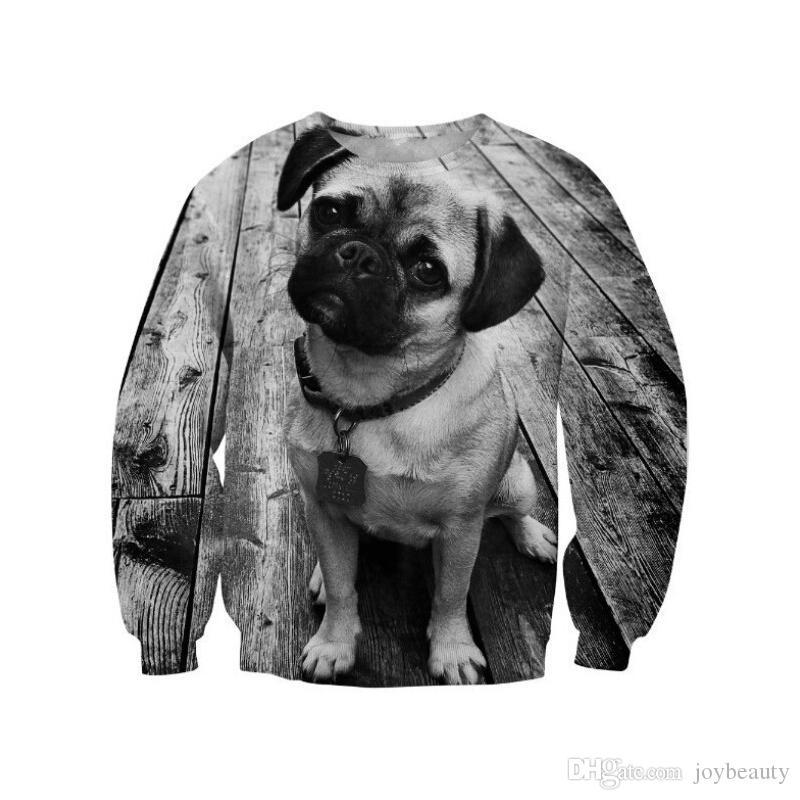 Women Sweatshirt Dog 3D Full Print Girl Free Size Stretchy Casual Hoodies  Lady Long Sleeves Tops Digital Graphic Sweatshirts (RLSws0196)