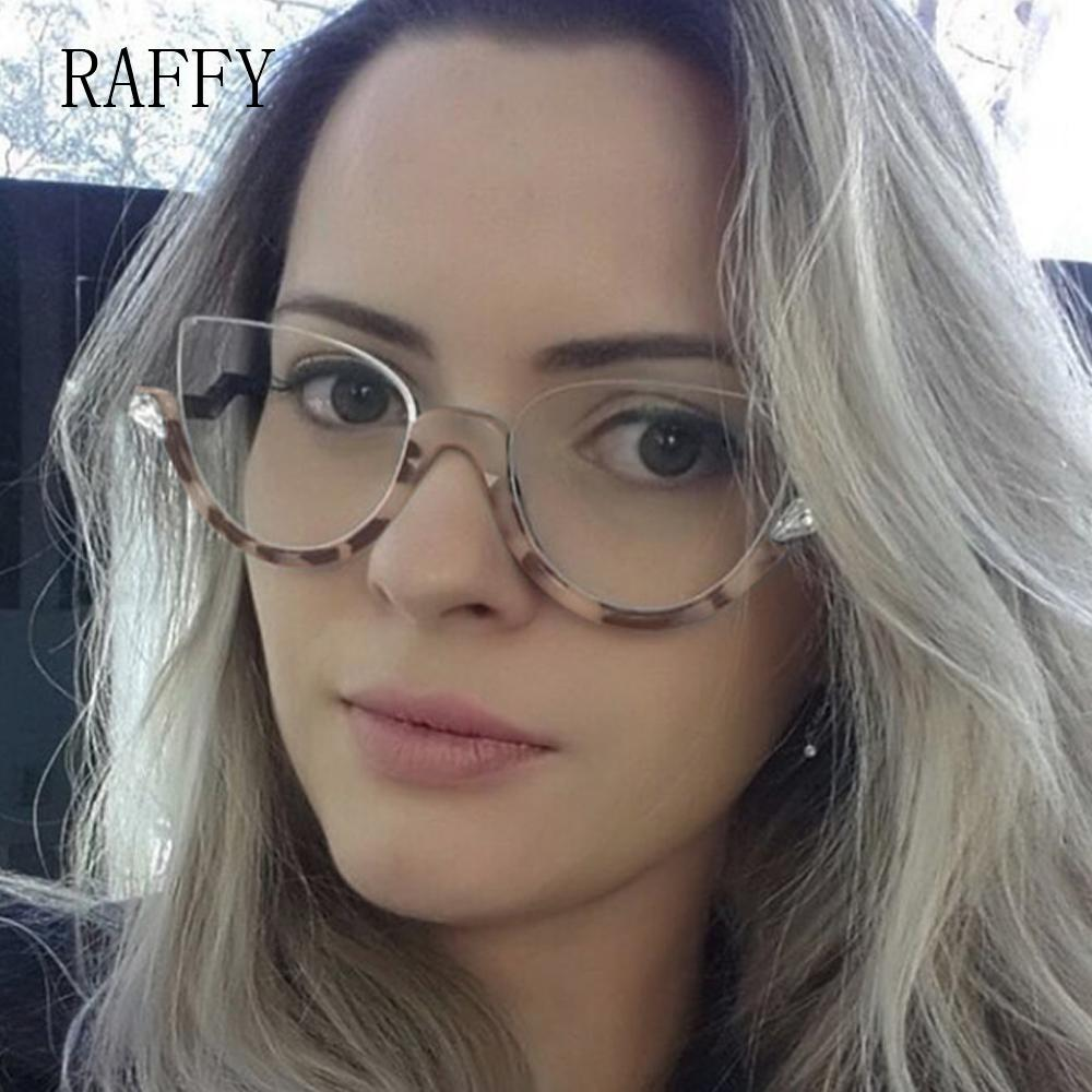 241218985aef 2019 RAFFY Cat Eye Women Eyeglasses Half Frame Eyewear Vintage Glasses  Women Eyeglasses Semi Rim Glasses Frames De Oculos Las Gafas From Duoyun,  ...