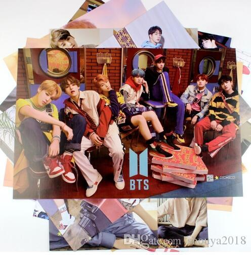 Freies verschiffen 8 * 42x29 cm NEUE BTS FLÜGEL Poster Wandaufkleber Geschenk Bangtan Jungen