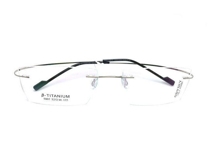 eda863b1f39 2019 Titanium Eyeglasses Rimless Optical Ultralight Glasses Frame No Screw  Prescription Spectacle Frameless Glasses From Bojiban