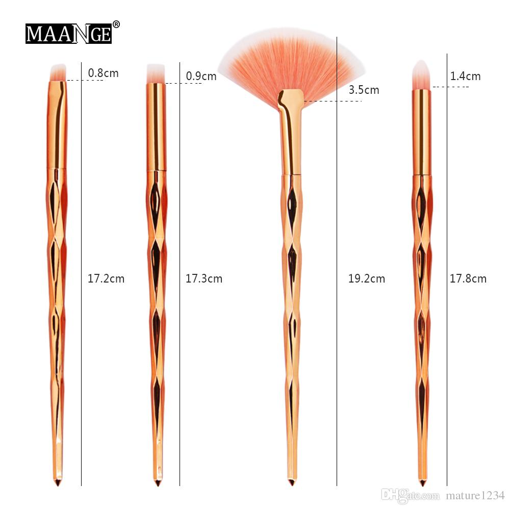 2019 make-up suits Makeup brushes sets cosmetics brush bright color Spiral shank 3D Colorful screw makeup tools