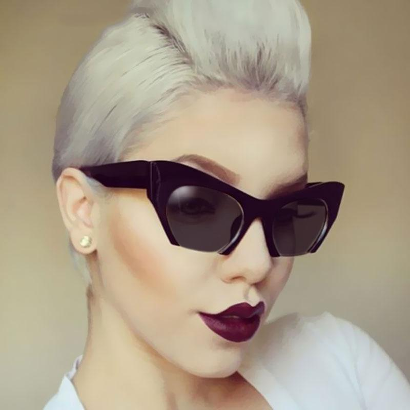 275a7214a52 Transparent Cat Eye Glasses Frames For Women 2018 Black Semi Rimless Half Rim  Eyeglasses Frame Women Lunette De Soleil Femme Kids Sunglasses Locs  Sunglasses ...