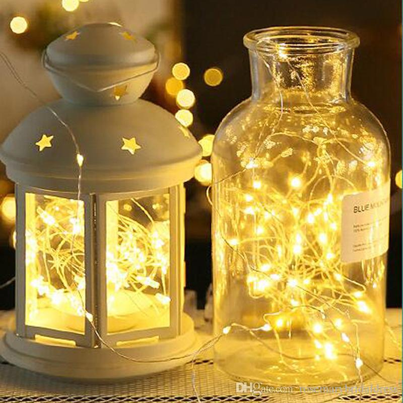 10m length led copper lights string festival wedding christmas lights decoration battery box bar out door party lantern string inexpensive wedding