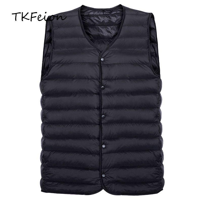 Hombre Compre Para 2018 Thin Light Style Chaleco Chaquetas Azul 67gbfy