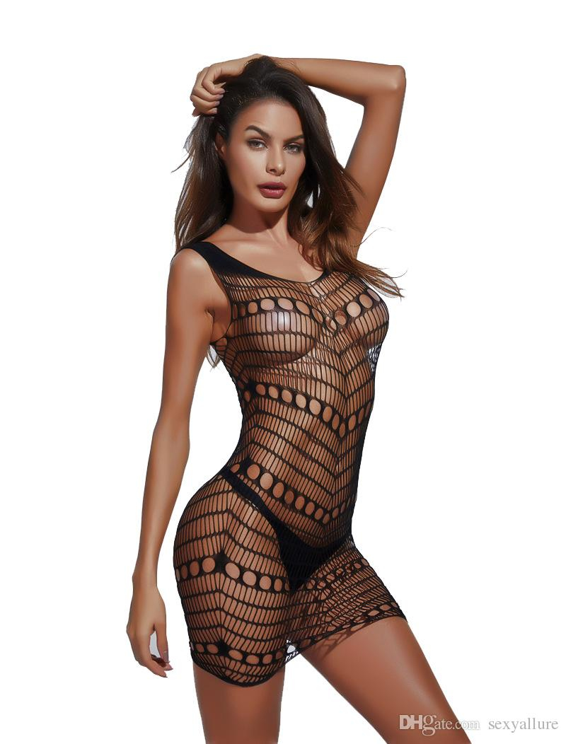 f2558c0849d Floral Opening Crotchless Bodystockings Sexy Sleeveless Nylon Fishnet  Bodystocking Sexy Costume Comfortable Sleepwear Sexy Nightie Sexy Lingeries  Sexy ...