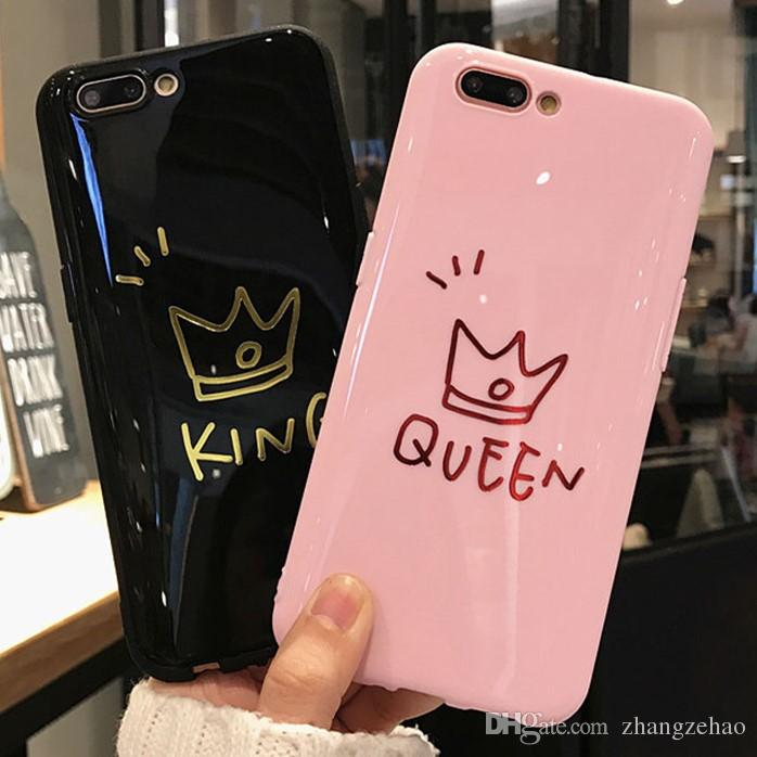 glossy crown phone case for iphone 6 6s plus letter king queen backglossy crown phone case for iphone 6 6s plus letter king queen back cover soft tpu cases for iphone x 8 7 6s plus coque customized phone cases cute phone