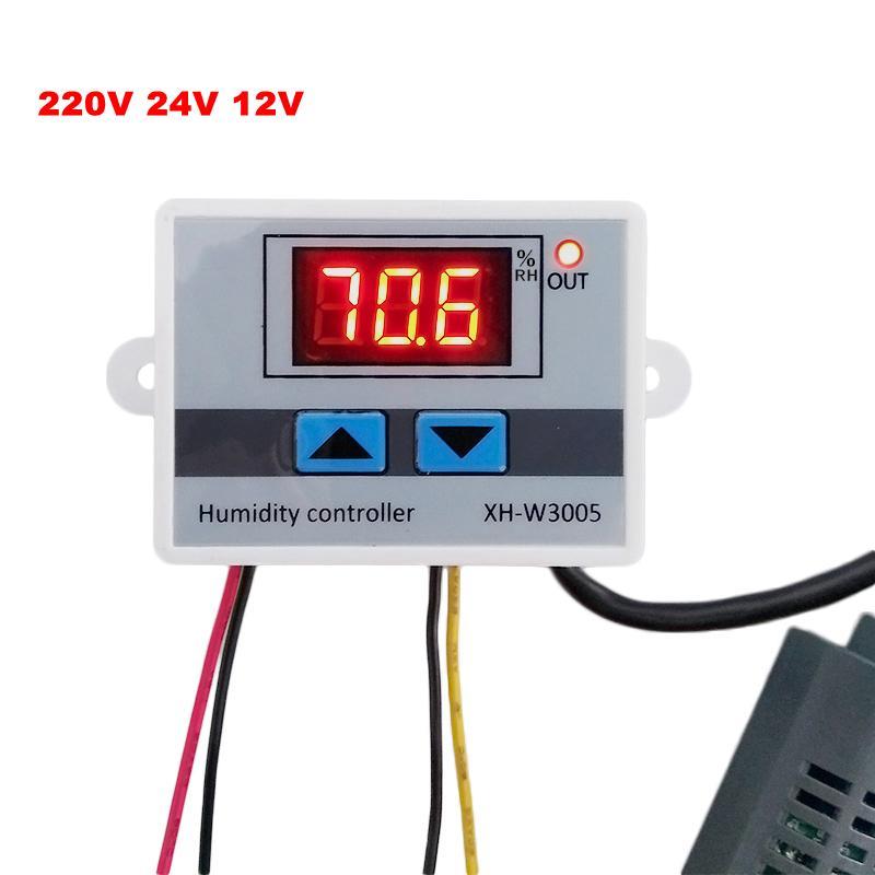 Werkzeuge Analysatoren 10a 12 V Mini Digital Controller Luft Feuchtigkeit Sensor Messbereich 1% ~ 99%