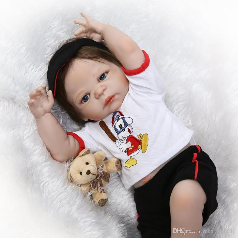 57cm full body silicone reborn baby boy doll toys lifelike lovely