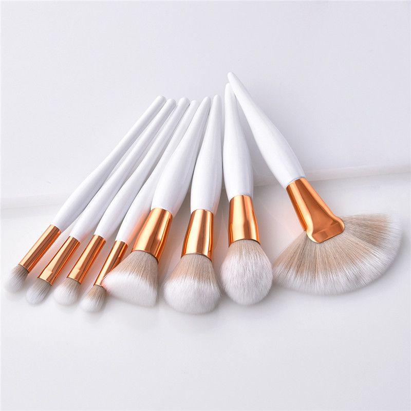 8 Teile / los Professionelle Make-Up Pinsel Set fan form make-up pinsel Powder Blush Foundation Lidschatten Make-Up Pinsel kosmetische make-up-tool