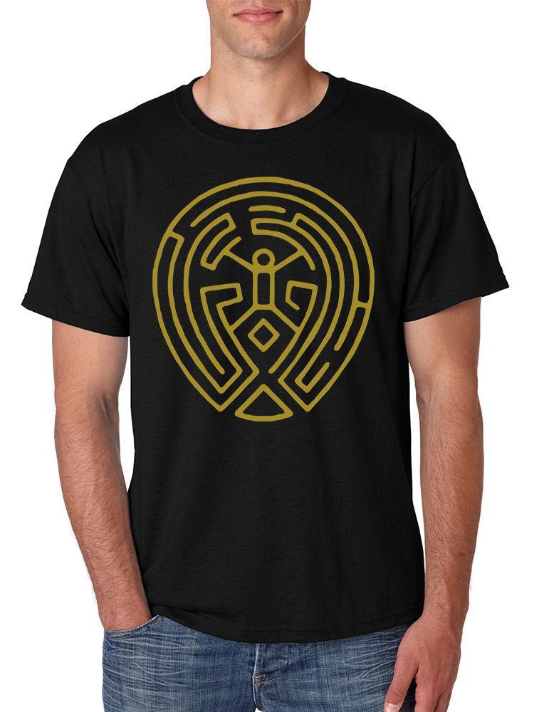 New Men S T Shirt Maze Map Gold Print Tv Show Cool Tee Shirt Funny