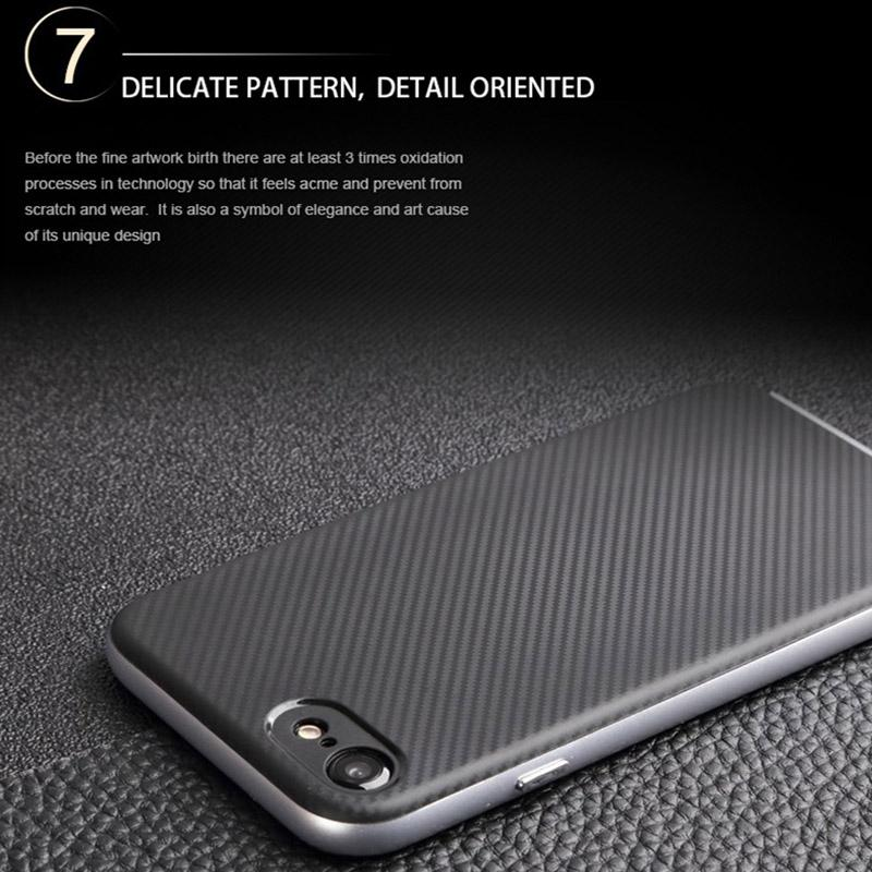 I8 Carbon Fiber Hybrid Slim Armor Case For Iphone X Iphone8 7 Plus for Samsung Galaxy 2017 A3 A5 TPU Skin Cover