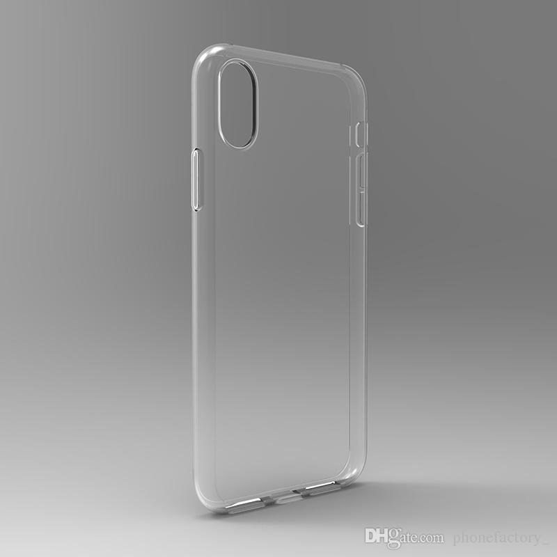 울트라 얇은 아이폰 7 8 플러스 아이폰 6S 플러스 케이스 S8 S7 에지 S6 가장자리 플러스 크리스탈 투명 TPU 실리콘 소프트 커버