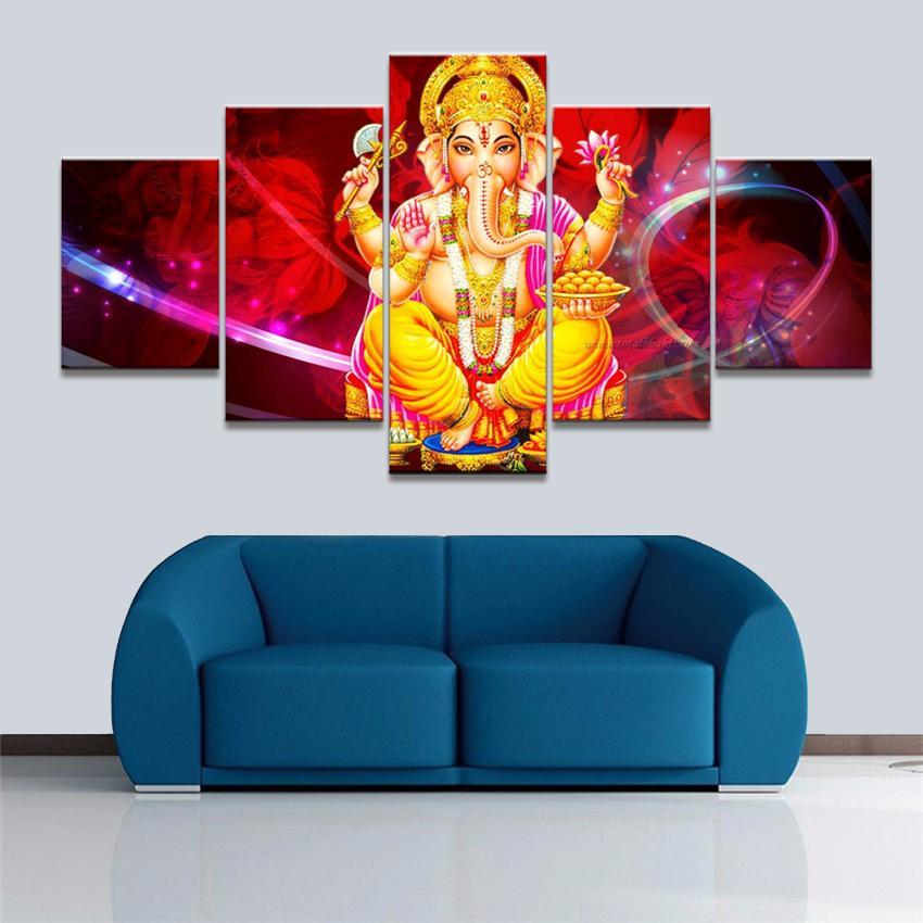 2019 canvas painting framework elephant god pictures wall artwork rh dhgate com