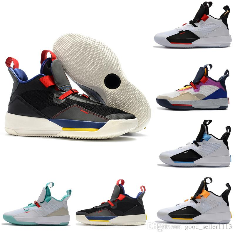 4bcff9e4d492a4 Cheap New Brand Jumpman 33 XXXIII Future Of Flight Blackout Mens Basketball  Shoes Men 33s Zapatillas Multicolors Black Yellow Sport Sneakers Sneakers  Online ...