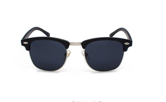 Nouveau mode rétro demi-cadre Flash Mirror Lens femmes hommes Club Master lunettes de soleil en plein air conduite lunettes