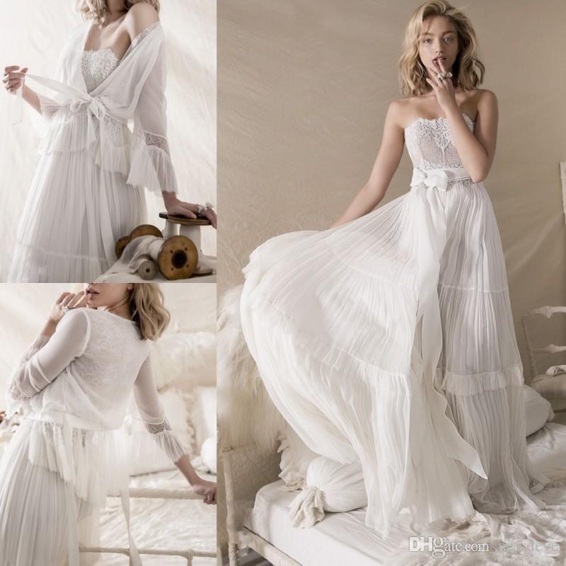 Discount Lihi Hod Wedding Dresses Simple Lace Appliques