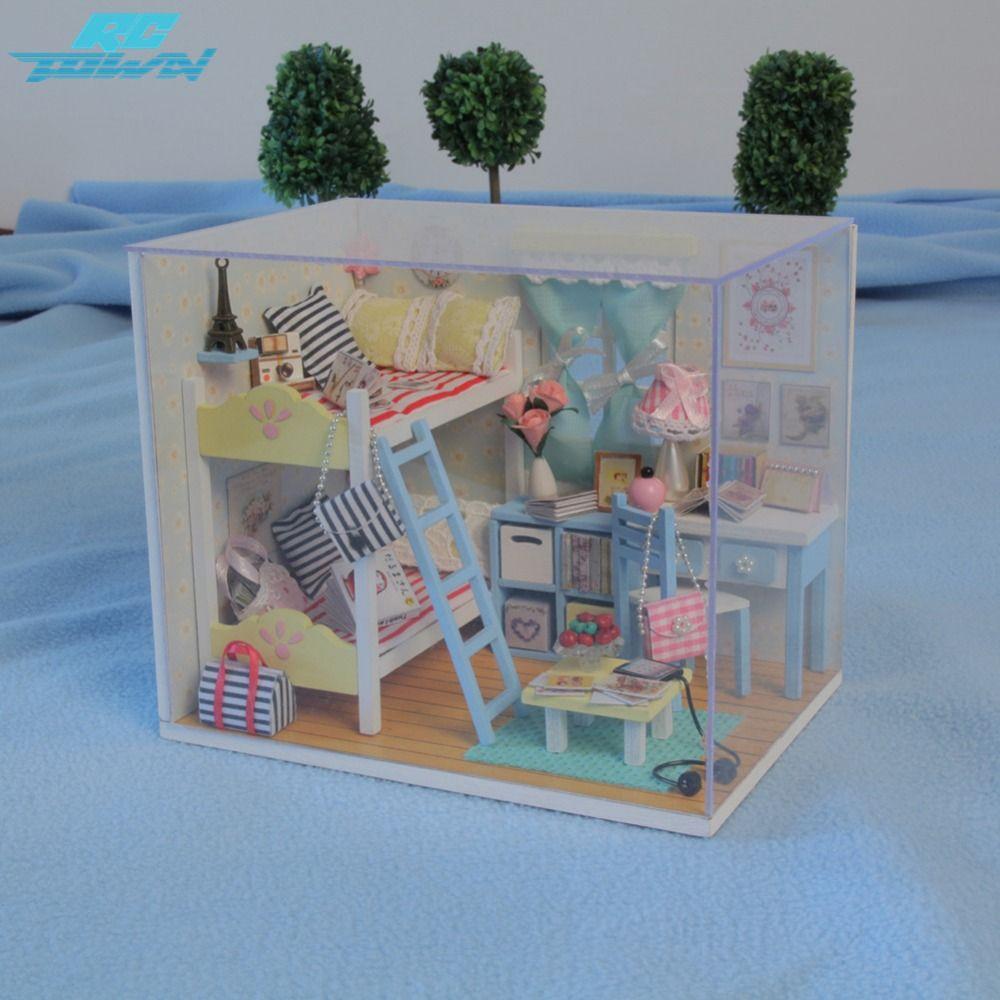 Rctown Dollhouse Miniature Diy House Kit Wood