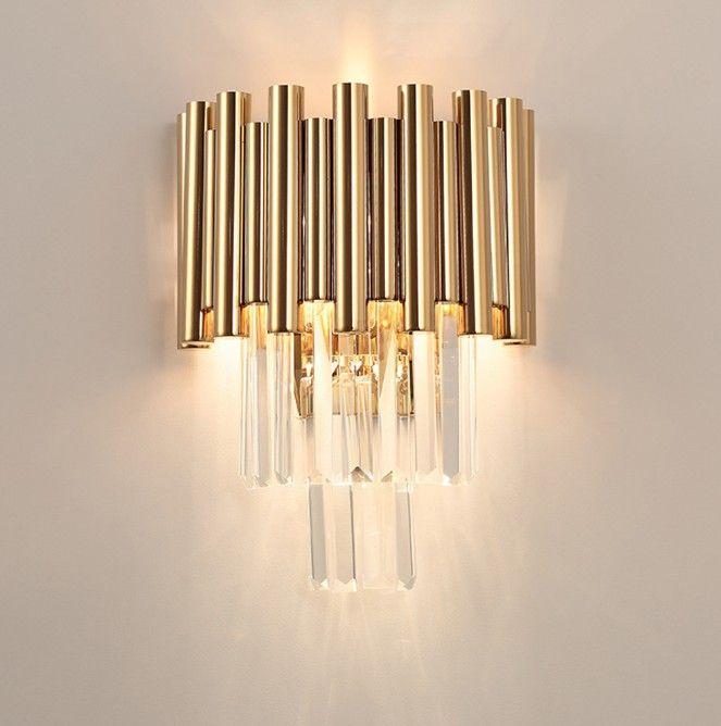2019 luxury gold wall lamp modern crystal sconce ac110v 240v rh dhgate com