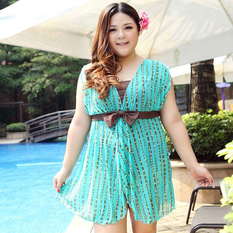 cf3acefc741ae 2019 2017 Sexy Plus Size Swimwear One Piece Women Dress Swimsuit Big ...