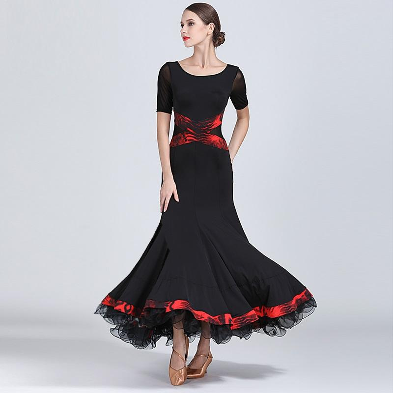 4838a8387347 2019 Black Ballroom Dress Woman Ballroom Dance Clothes Spanish Flamenco Dress  Viennese Waltz Fringe Tango Dance Wear From Sadlyric, $87.44 | DHgate.Com