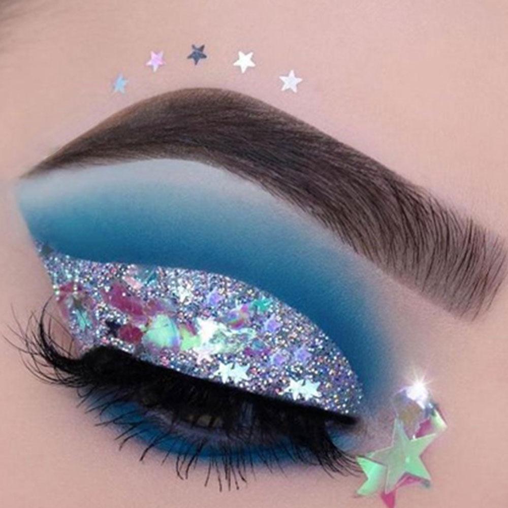 67f68108ef Festival Body Glitter Eye Makeup Highlighter Sequin Cream Gel Hair Shimmer  Lips Eye Shadow Shimmer Tattoo Pigment