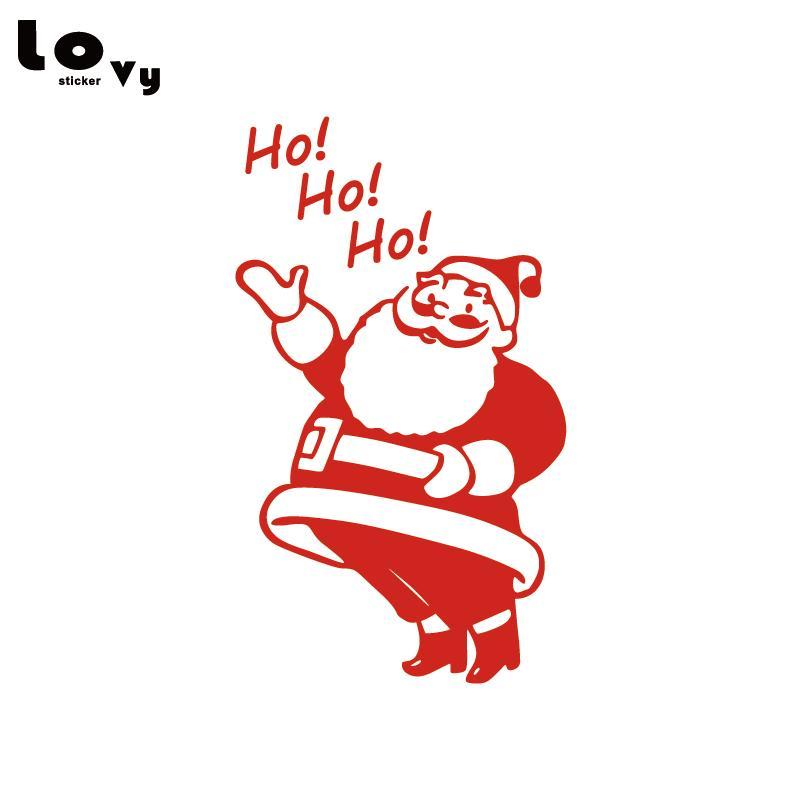 Babbo Natale Ho Ho Ho.Buon Natale Babbo Natale Decorazione Wall Art Decal Sticker Regalo Di Natale Per La Finestra Del Negozio Home Decor Wa0613