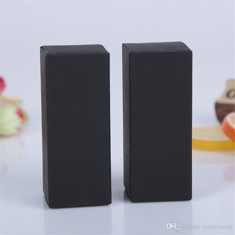 10 boyutu Siyah beyaz Kraft Kağıt karton kutu Ruj Kozmetik Parfüm Şişesi Kraft Kağıt Kutusu Uçucu Yağ Paketleme Kutusu LZ1416
