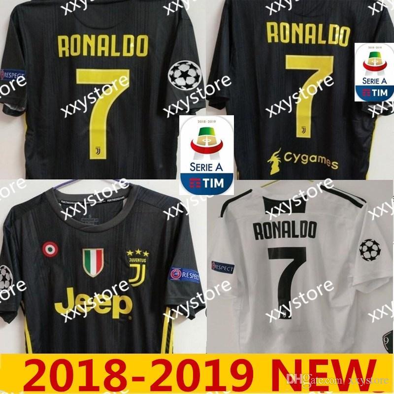 070688aa2 2018-2019 Thai Quality RONALDO JUVENTUS Soccer Jersey Men 18 19 7 ...