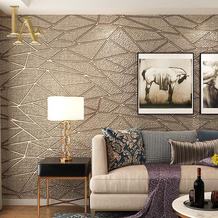high quality thick flocked modern geometry 3d wallpaper for walls rh dhgate com