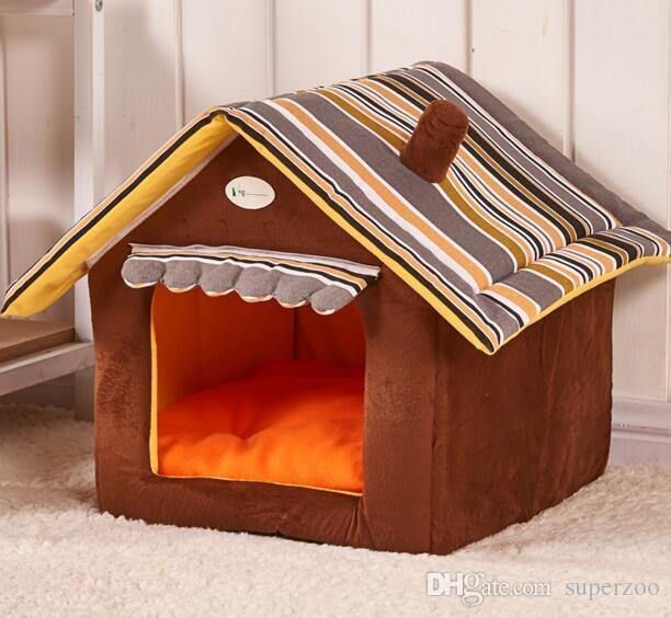 2019 pet dog bed stripe house shape dog bed dog kennel for puppy rh dhgate com