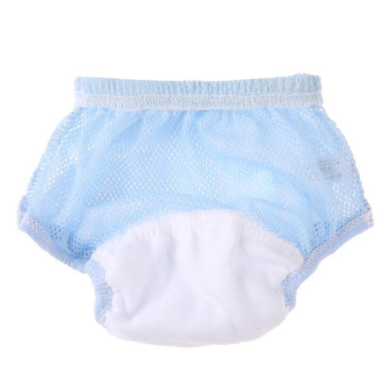 Solid Color Reusable Baby Cloth Diapers Kids Elastic Underwear Breathable Mesh Nappies Training Panties Diapers