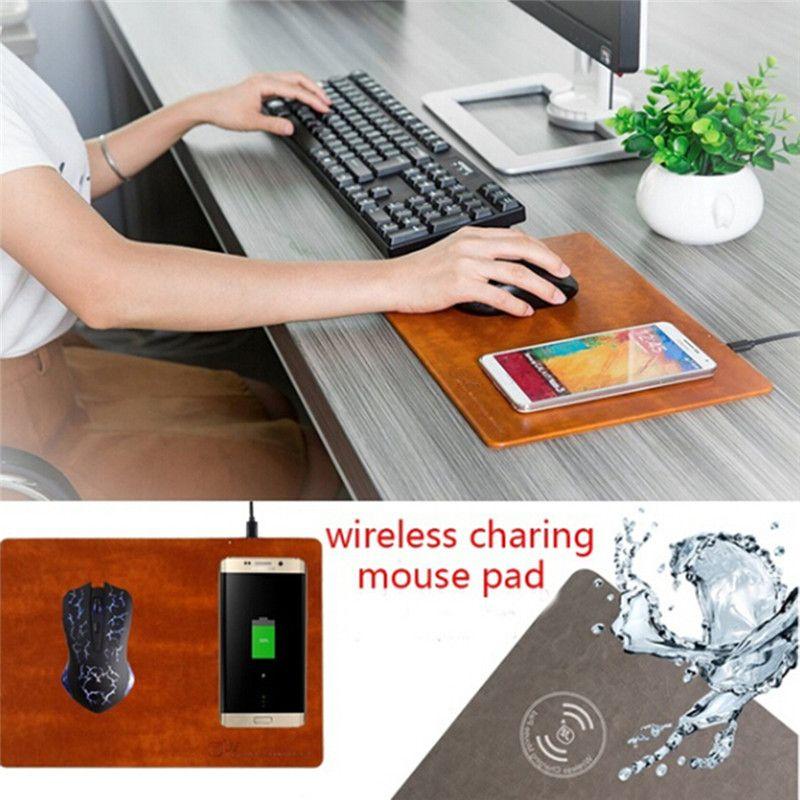 creative pu wireless charging mouse pad universal mobile phone qi rh dhgate com