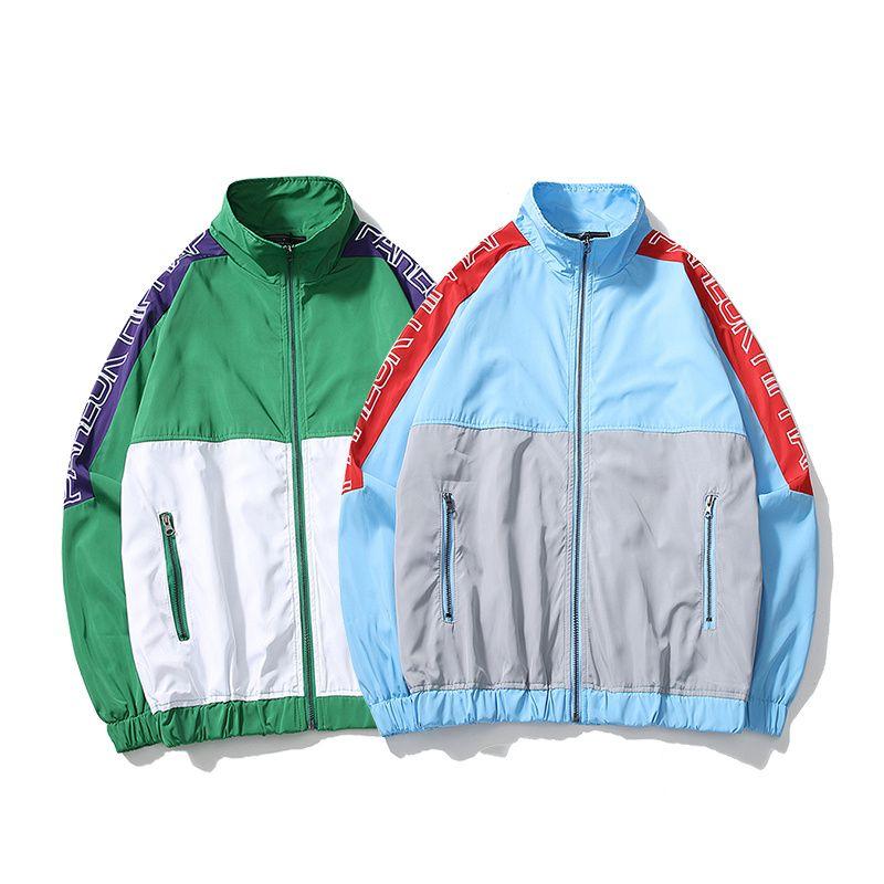 4d46b9c88e YouthCodes Fresh Patchwork Coaches Jackets Men Zipper Thin Windbreaker Old  School Vintage Fashion Outwear Kanye West Coats Men