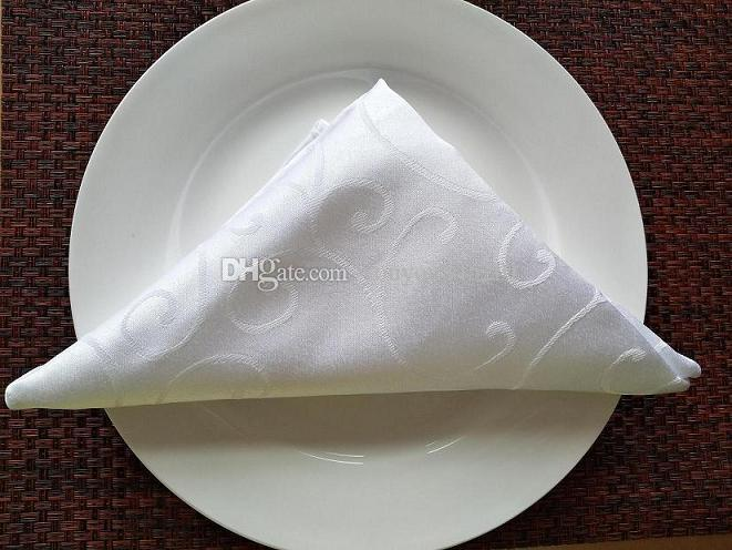 100% Polyester Colorful 16''*16'' Square White Color Plain Cloth Napkin A With