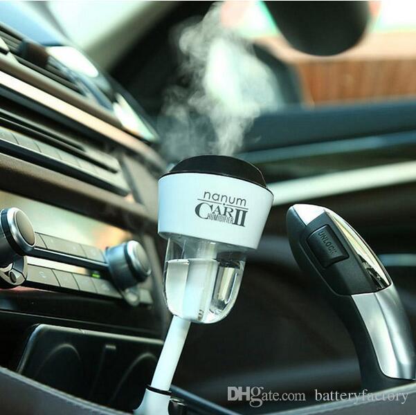 Nanum Fashion New Mini II Caricatore da auto Umidificatore di ricarica Bottiglia d'acqua portatile Umidificatore a vapore Air Mist Diffusore Purificatore Car Office Room