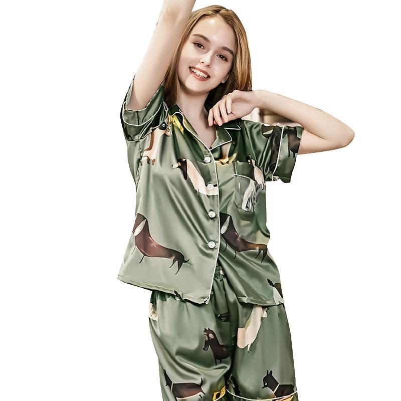 Angemessen 3 Pcs Mode Frauen Silk Satin Pyjamas Pyjama Set Nachtwäsche Sommer Homewear Nachtwäsche Kleid Sets Unterwäsche & Schlafanzug