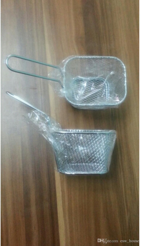 New Classic Frying Basket Utensili da cucina Placca in acciaio inox Mini Frying Basket Mesh Basket Strainer Net